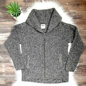 Aritzia Tna full zip marled wool cardigan